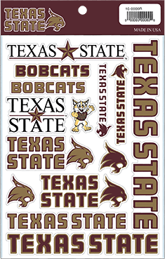 Texas State University Craft Sticker Sheets